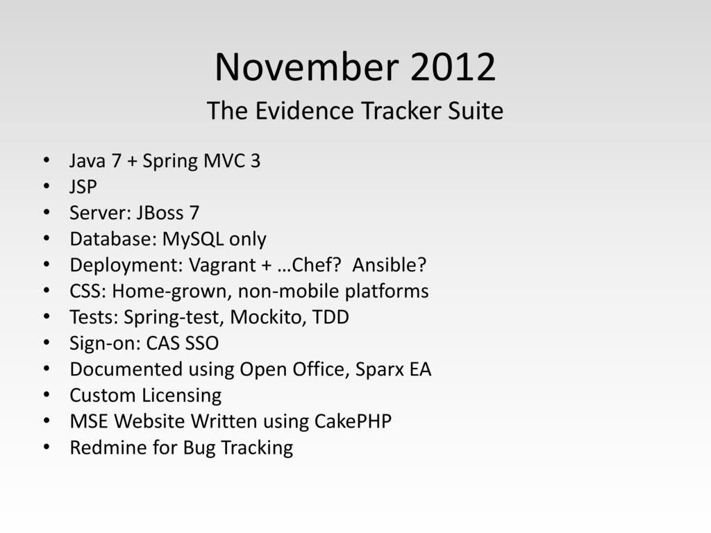 Evidence Tracker Suite - ppt download