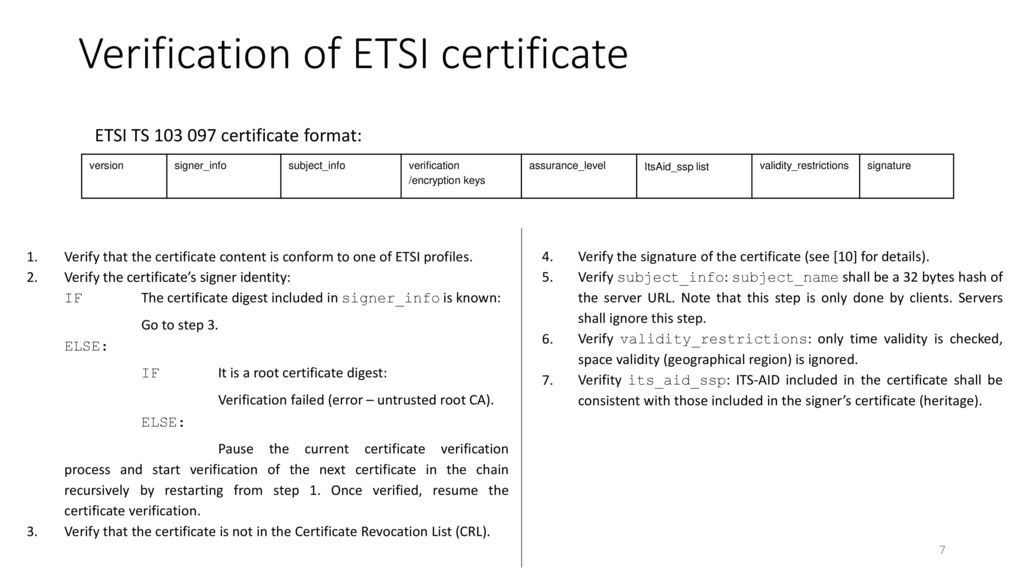 Tls Authentication Using Etsi Ts And Ieee Certificates Ppt Download