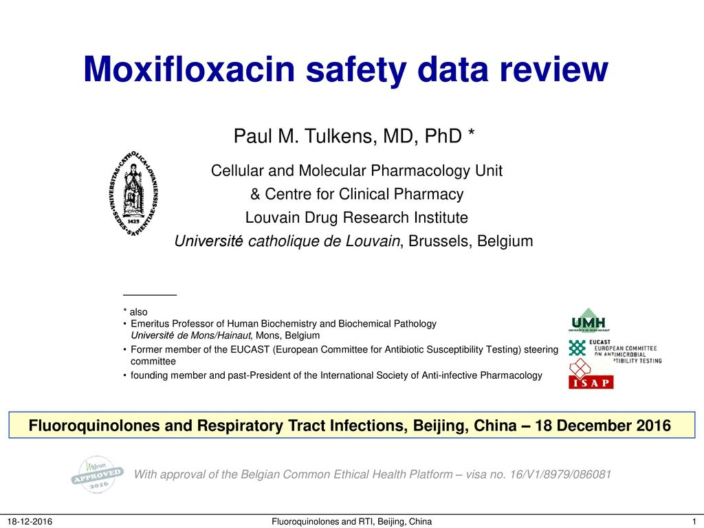 Antimicrobial drug Avelox: instructions for use 16