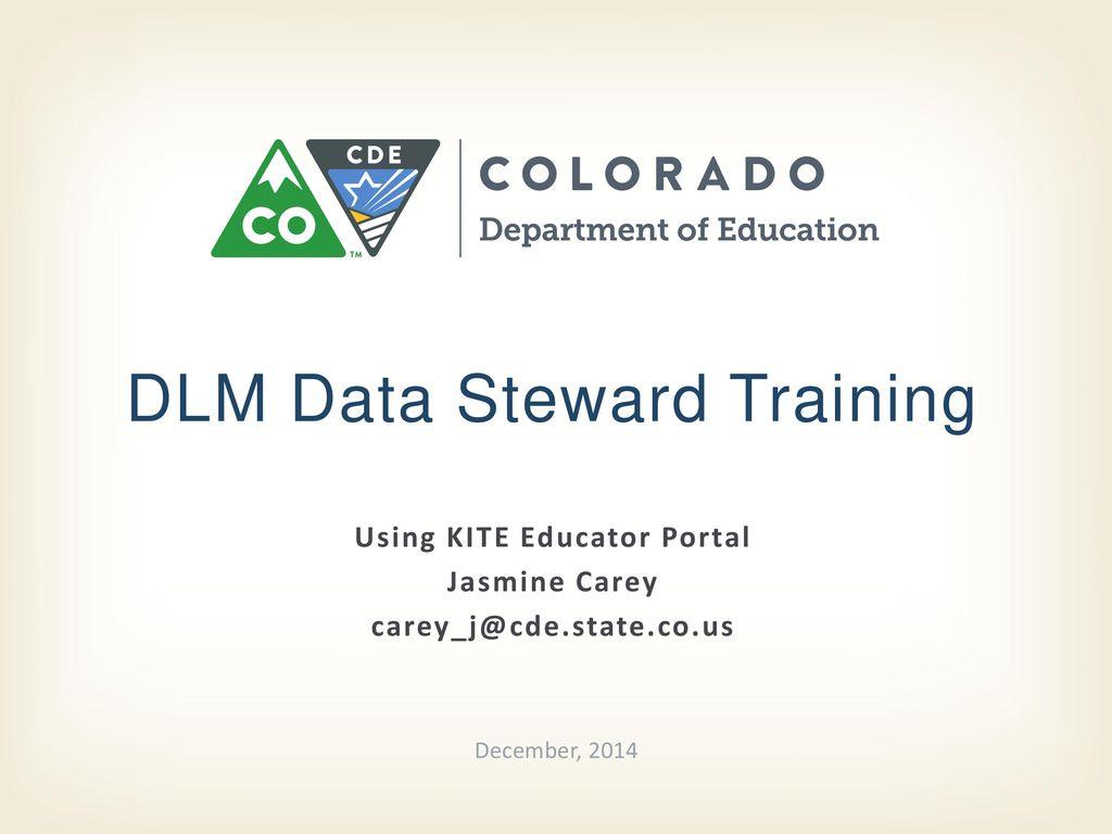 DLM Data Steward Training