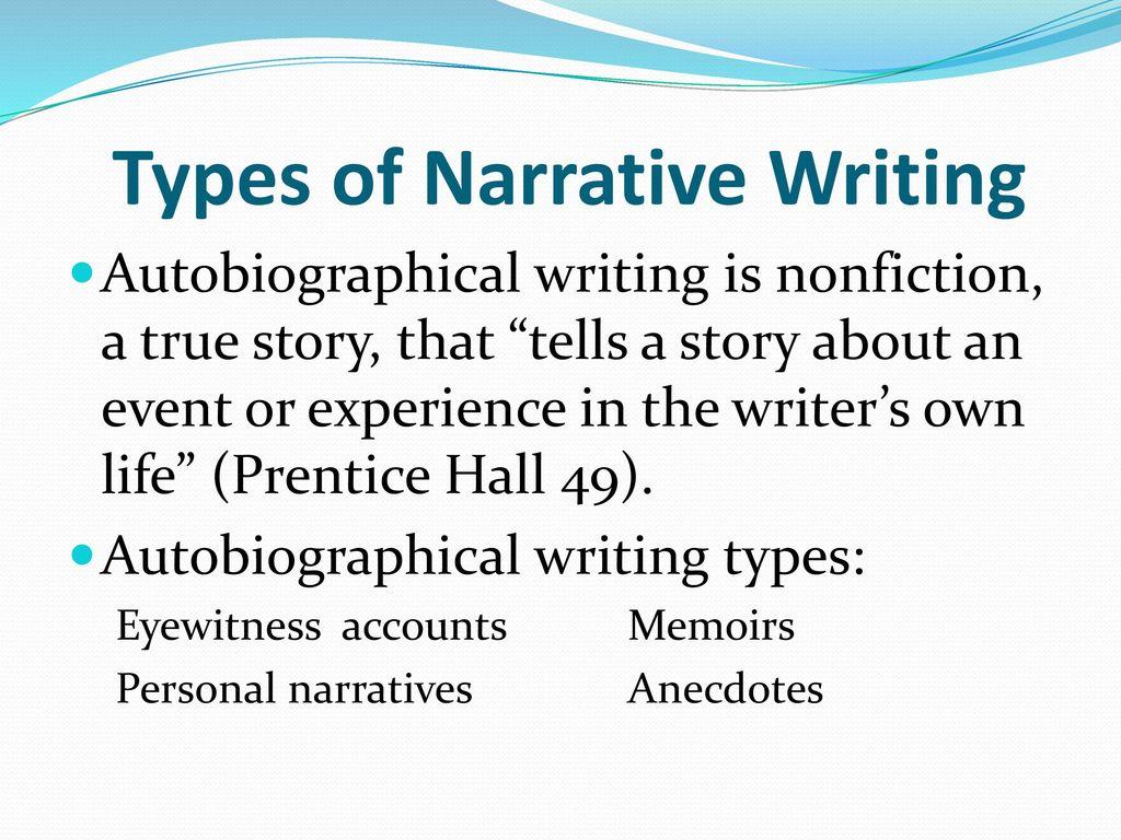 Narrative Writing Basics of Narrative Writing. - ppt download