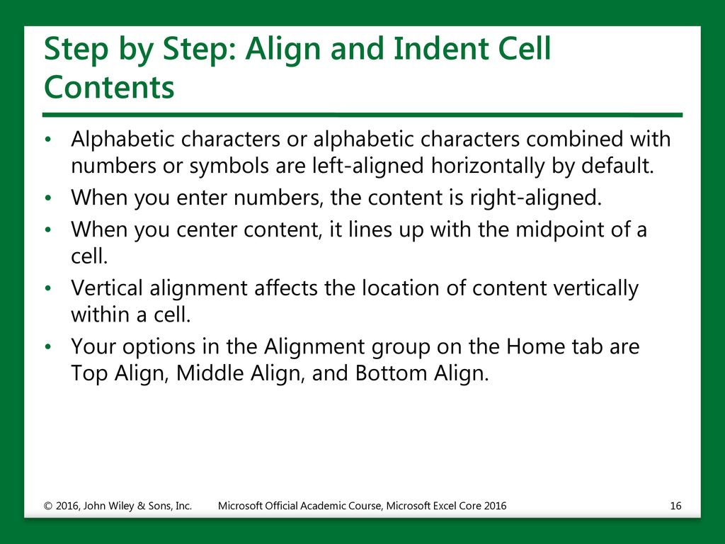 Formatting Cells and Ranges - ppt download