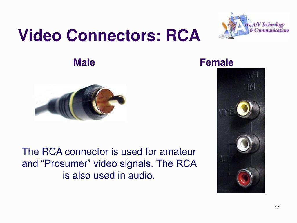 Audio Video Production Ppt Download Connectors 17