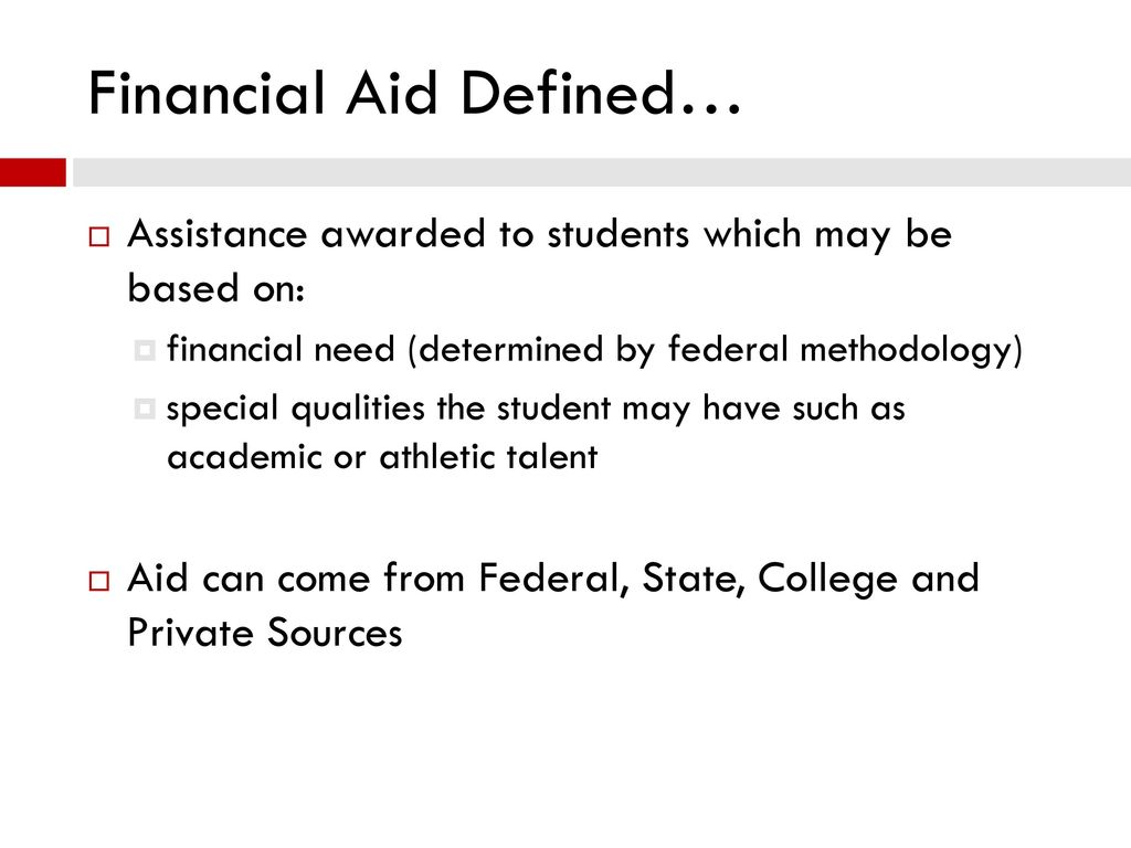 financial aid presentation - ppt download