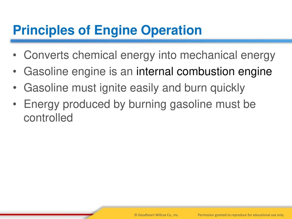 The principle of operation of a two-stroke internal combustion engine