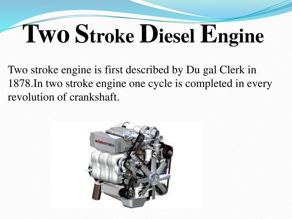 Diesel Engine Ppt Download Running Two Stroke Diagram
