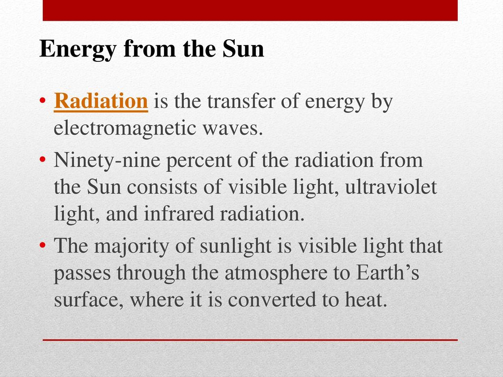Energy Transfer in the Atmosphere - ppt download
