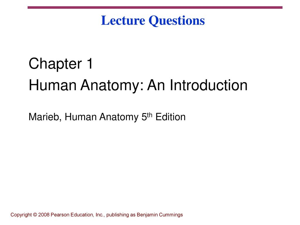 Human Anatomy: An Introduction - ppt download