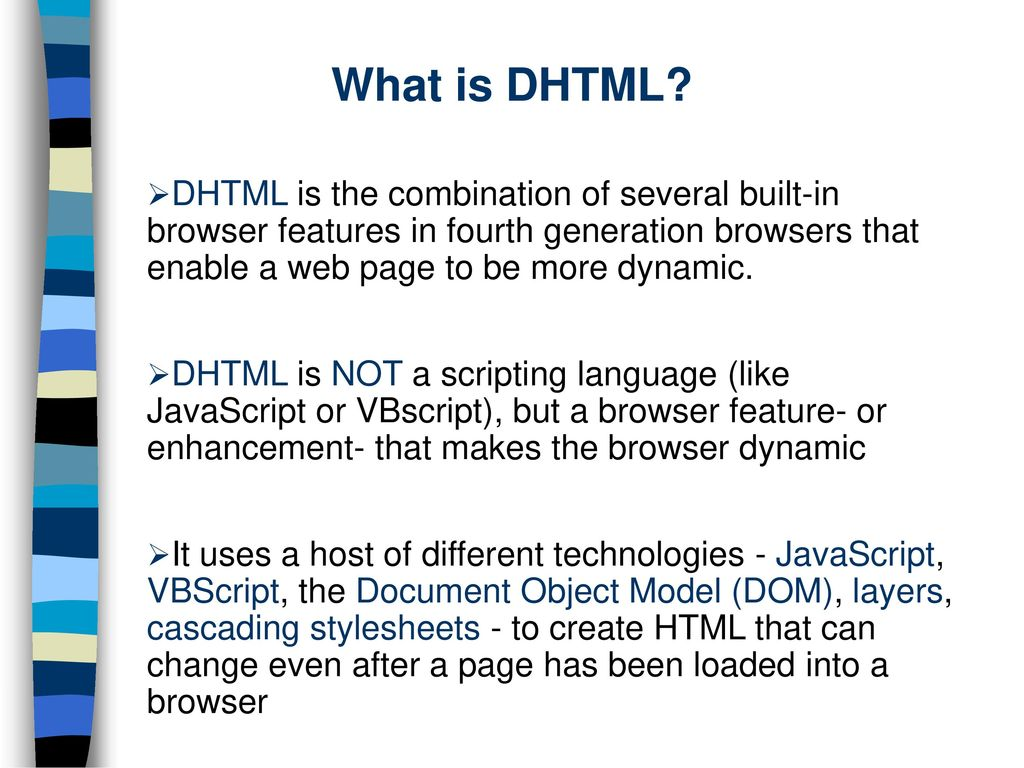 DHTML. - ppt download