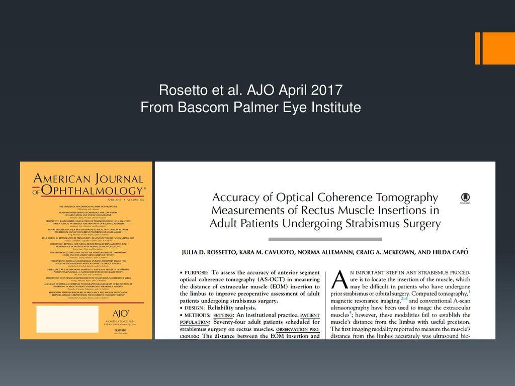 4edb52808abfc2 Anterior Segment OCT in Strabismus - ppt download
