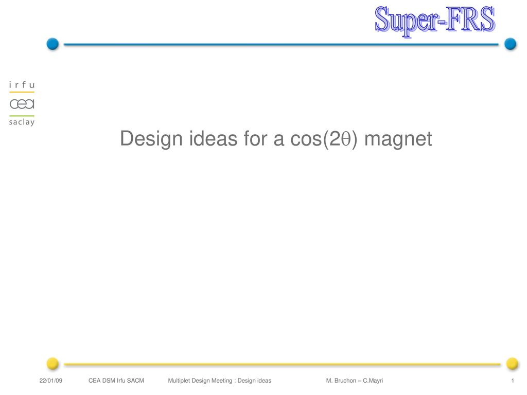 Design Ideas For A Cos 2q Magnet Ppt Download