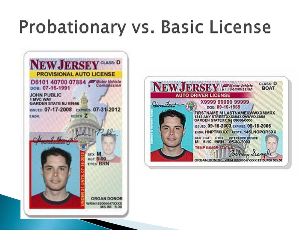 Probationary License Nj >> Getting behind the wheel… Mrs. Dias - ppt download