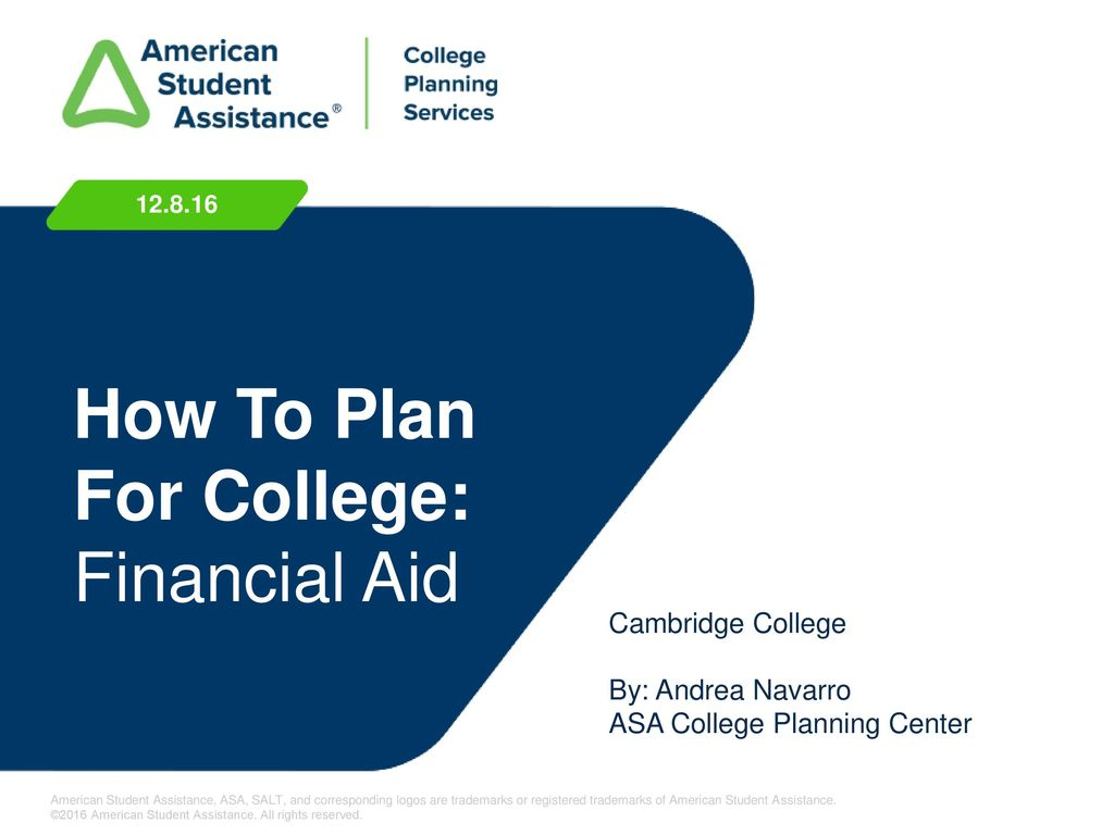 How To Plan For College Financial Aid