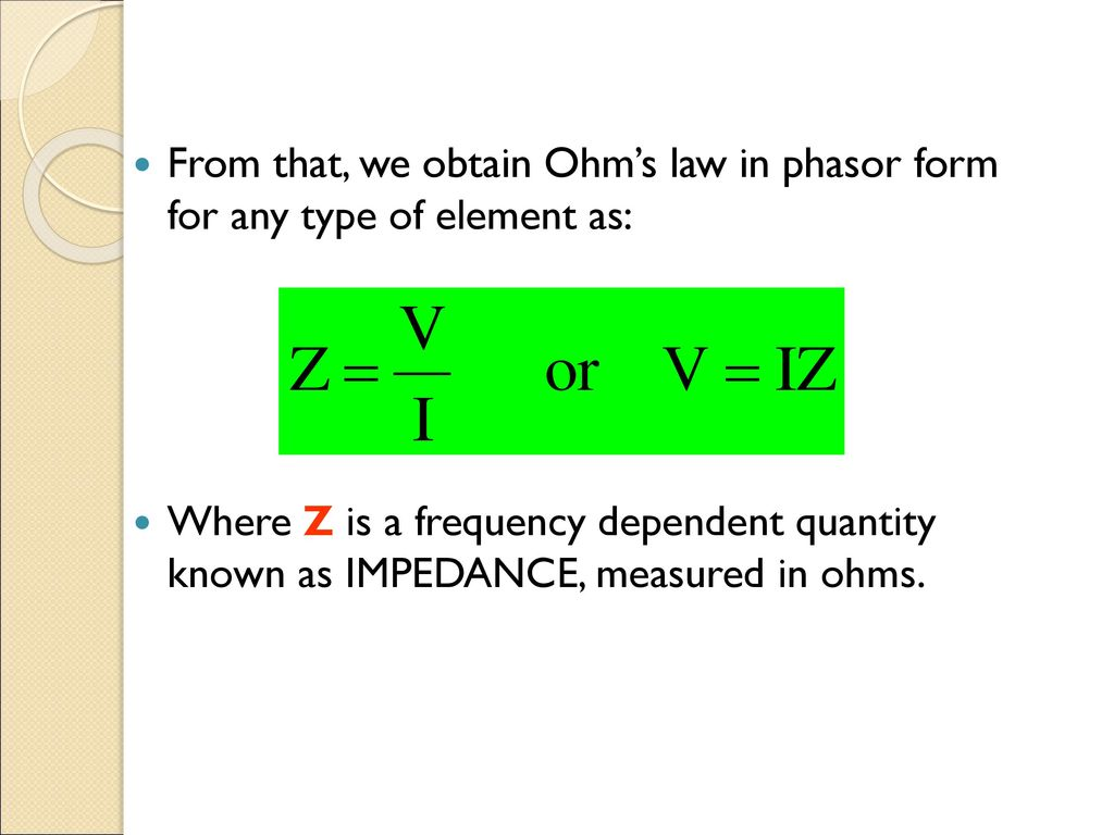 Lecture 03 Ac Response Reactance N Impedance Ppt Download The Frequency Dependent Of An Rc Series Circuit 26 From