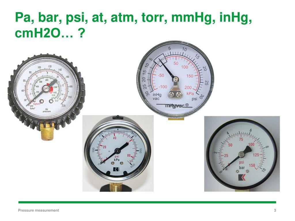 Pressure measurements - ppt download