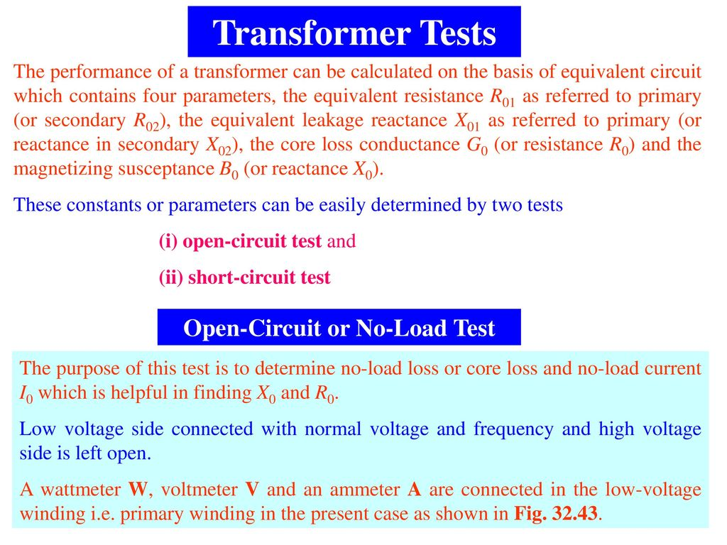 Lecture On Single Phase Transformer Ppt Download Ac Circuit Load Tester Open Or No Test