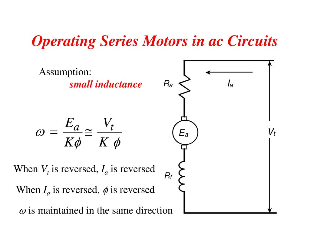 Ac Series Motor Circuit Diagram Schematic Diagrams Led Design Chapter 5 Speed Torque Characteristics Of Electric Motors Ppt