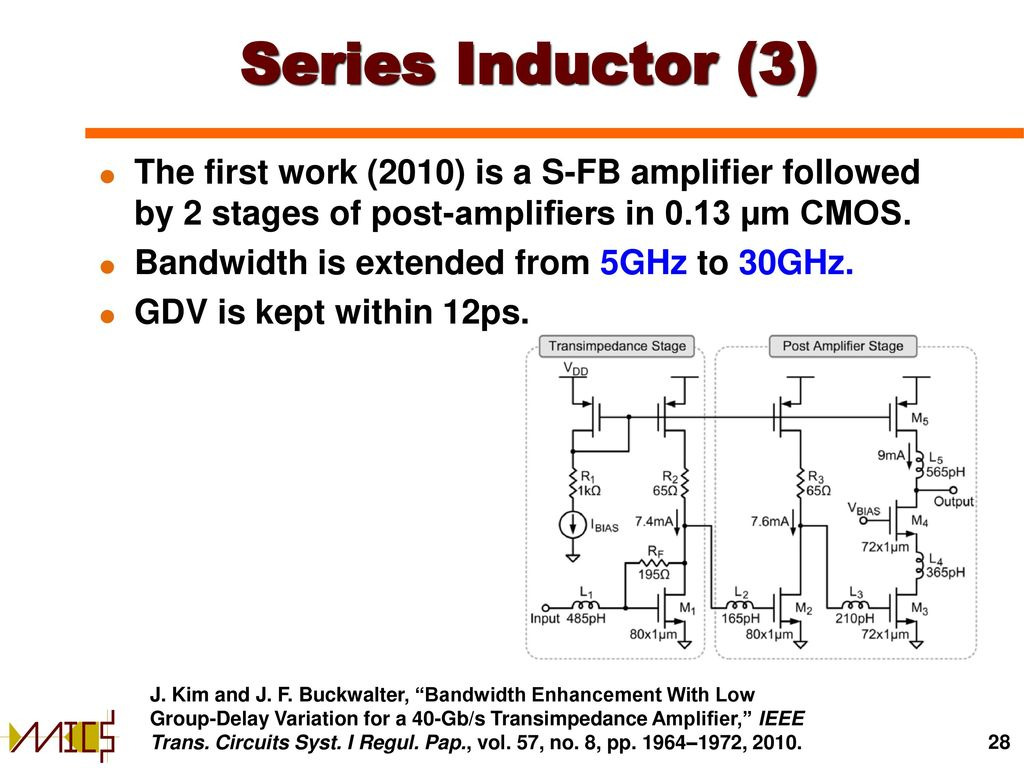 Transimpedance Amplifier With Current Circuit Electrical Amplifiers In Cmos Technology Ppt Download 28 Series