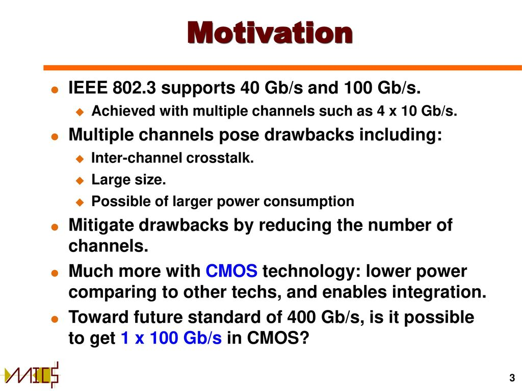 Transimpedance Amplifiers In Cmos Technology Ppt Download Amplifier With Current Circuit Electrical Motivation Ieee Supports 40 Gb S And 100