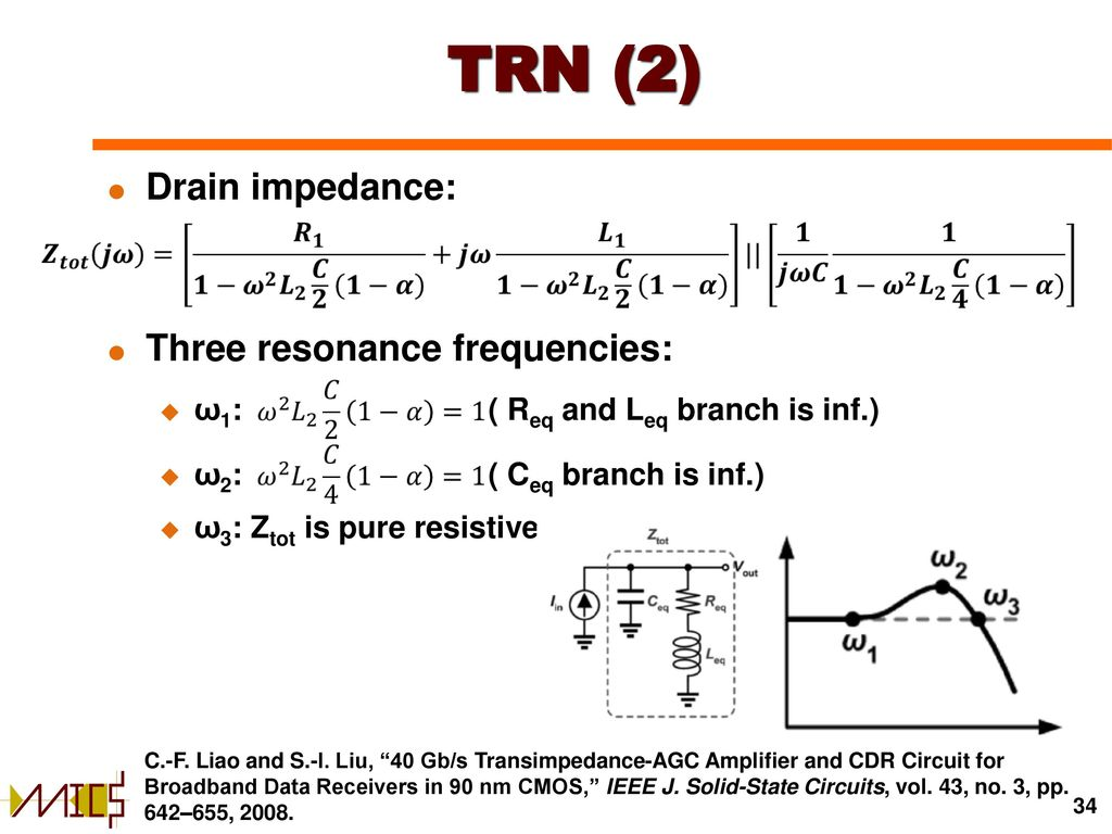 Transimpedance Amplifiers In Cmos Technology Ppt Download Proposed Amplifier Schematic 34 Trn
