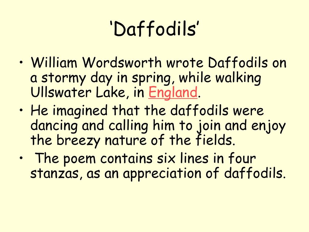 daffodils william wordsworth