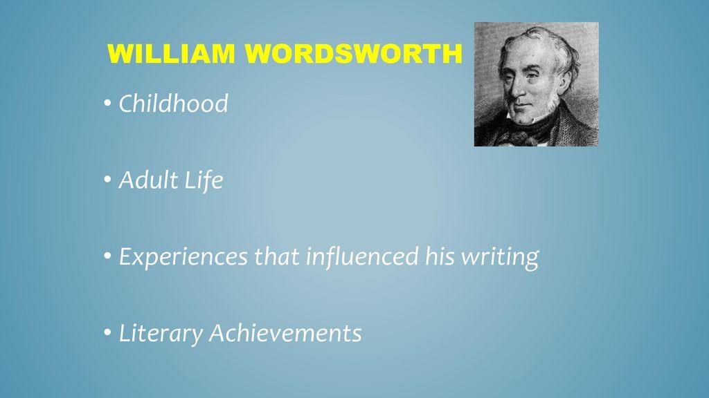 wordsworth childhood