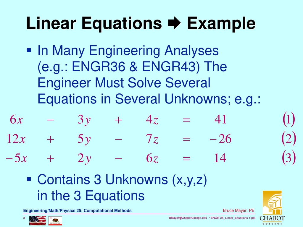 Chp8 Linear Algebraic Eqns-1 - ppt download
