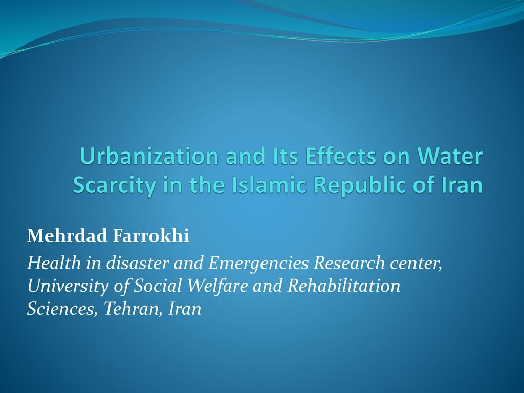 social effects of water scarcity