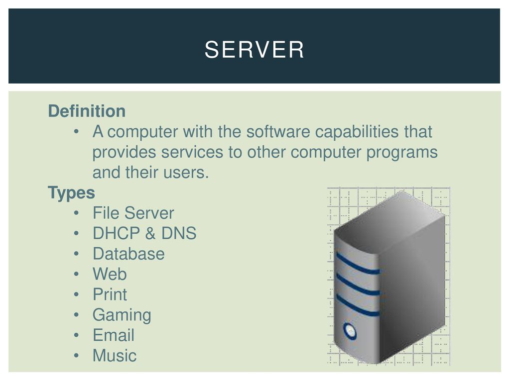 network systems 3.01 understand the physical components of a network