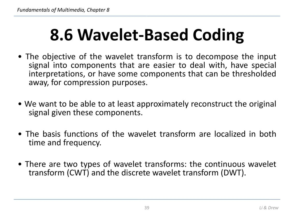 Wavelet-based image coding an overview — 2