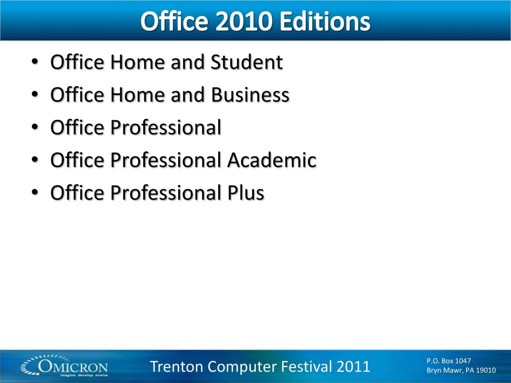 Windows 7 Microsoft Office 2010 and the Cloud - ppt download