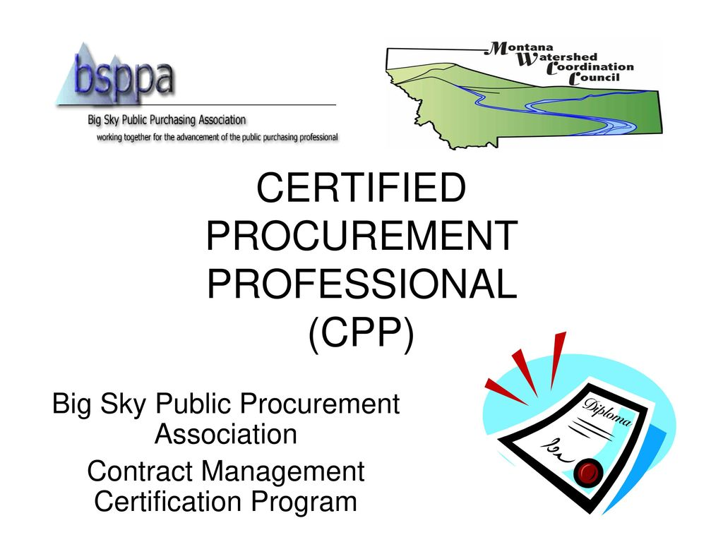 Certified Procurement Professional Cpp Ppt Download