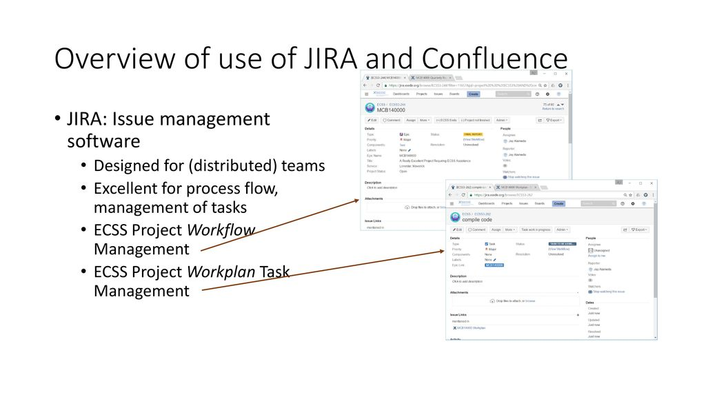 Xsede ecss jira confluence project management ppt download overview of use of jira and confluence ccuart Choice Image