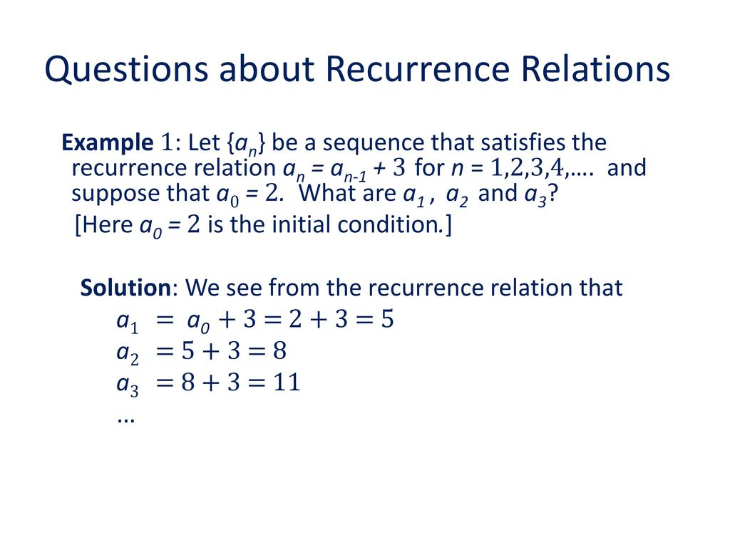 Chapter 8: recurrence relations ppt video online download.