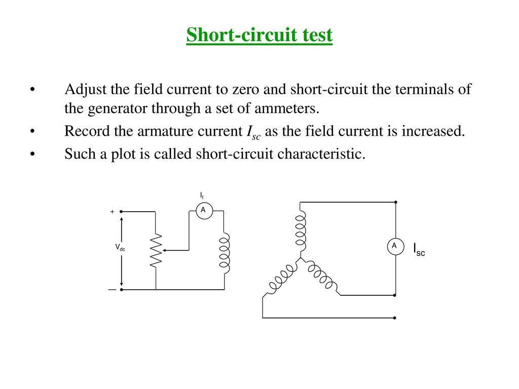 Voltage Regulation Ppt Download Shortcircuit Generator Slg 5 Short Circuit