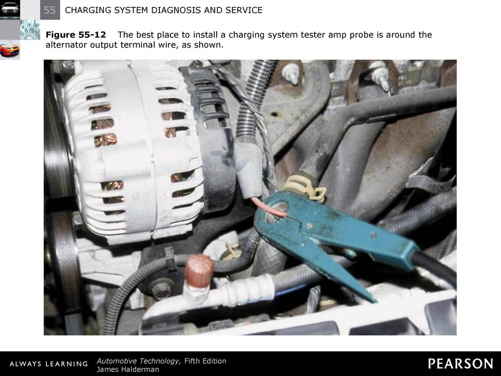 Charging System Diagnosis And Service Ppt Download Fig Back Of Typical Alternator Illustrating Wiring 19 Figure