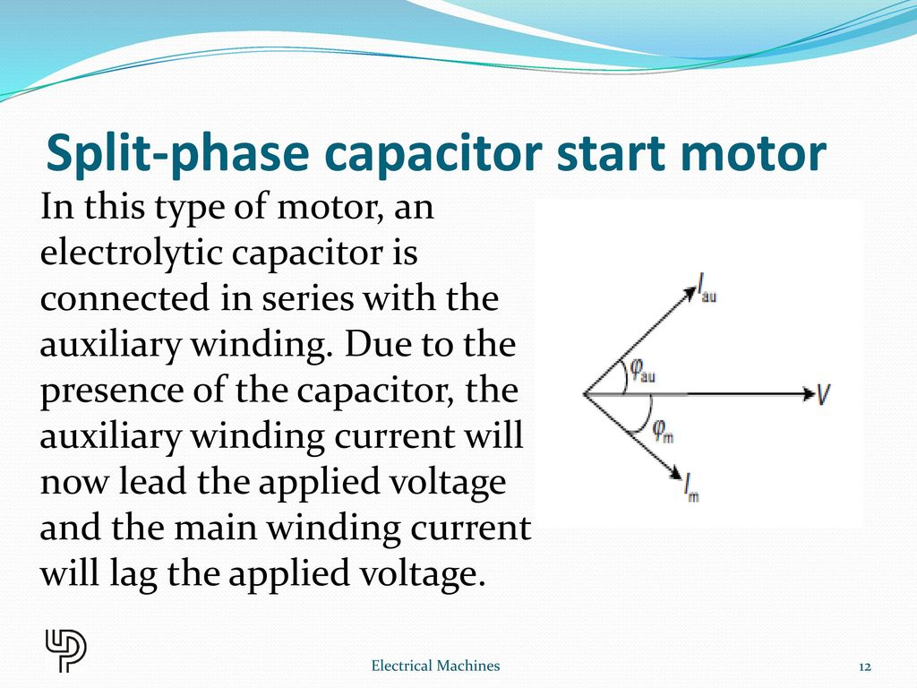 Single Phase Induction Motor Ppt Download Capacitor Start Diagram Split