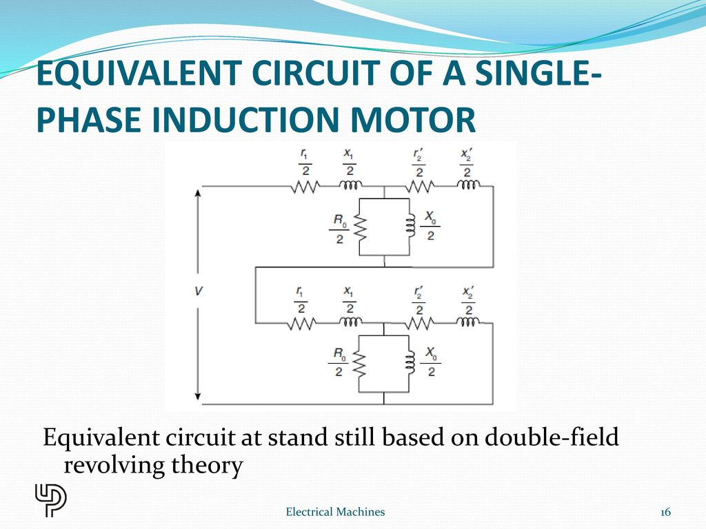 Single Phase Induction Motor Ppt Download Capacitor Start Run Wiring Diagram Equivalent Circuit Of A
