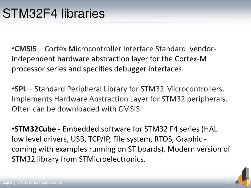 Stm32 cmsis library download.