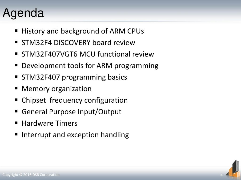 ARM Cortex-M4 MCU and STM32F4 Discovery board description - ppt download