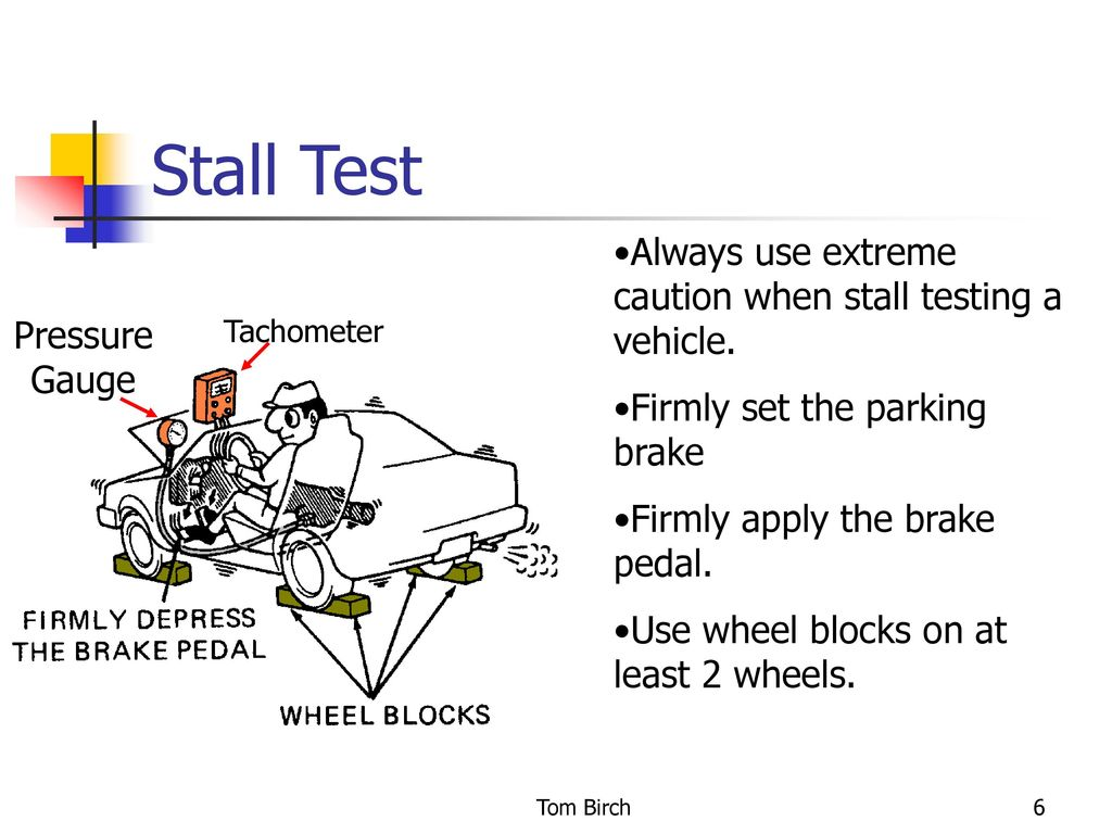 Automatic Transmission Stall Test - ppt download