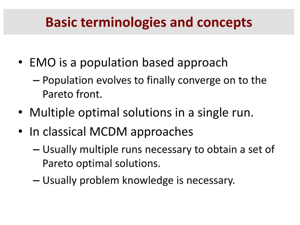 Basic terminologies and concepts