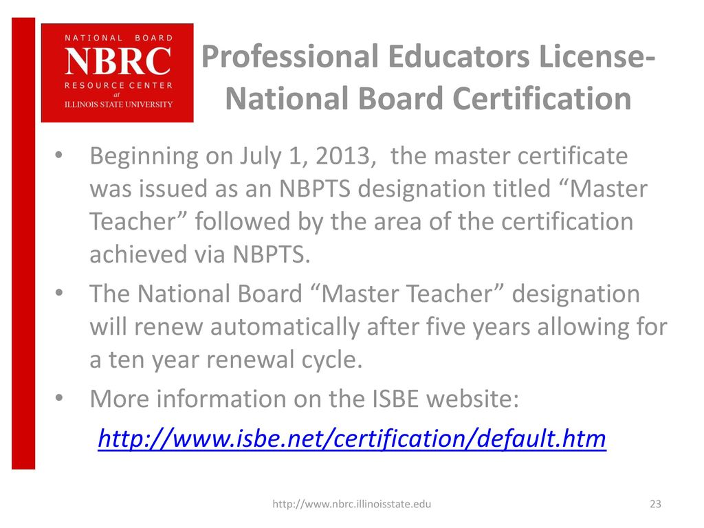 Newly Revised National Board Certification Ppt Download