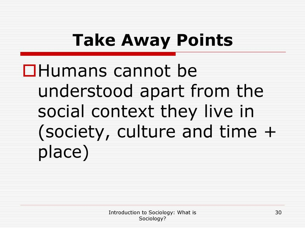 What is sociology 18