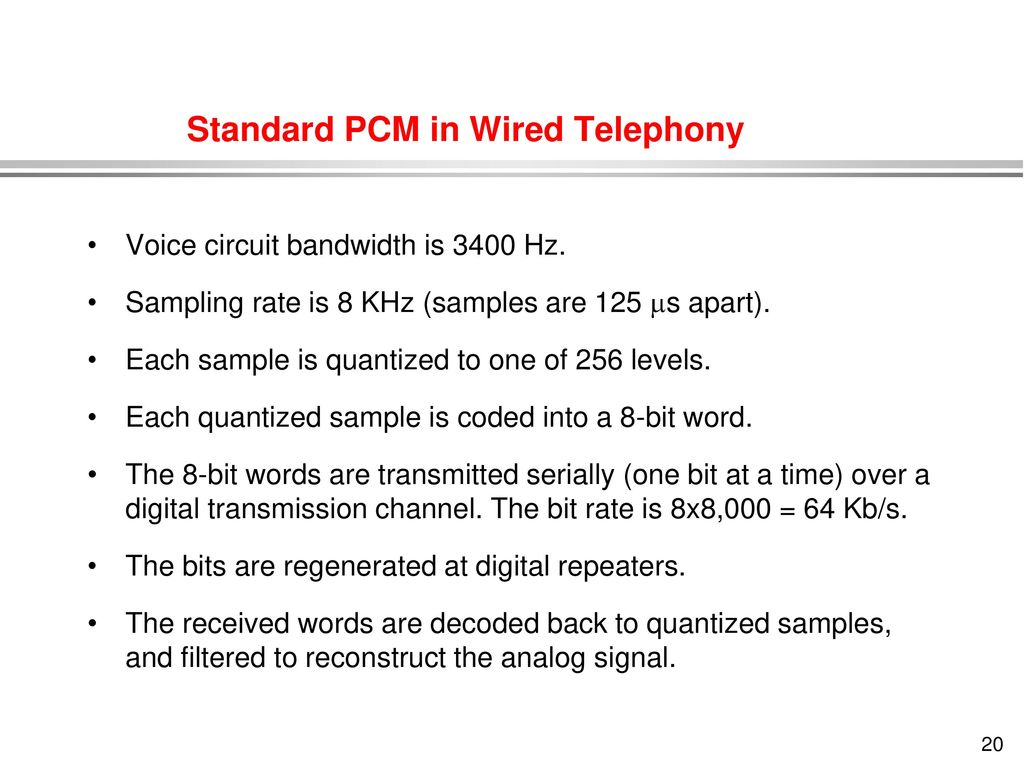 Transmission Of Information Ppt Download Voice Bandwidth Filter Standard Pcm In Wired Telephony