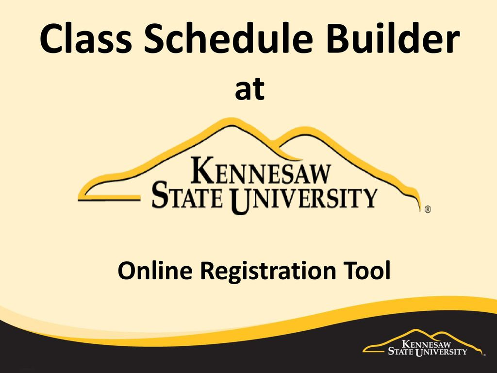 class schedule builder at ppt download