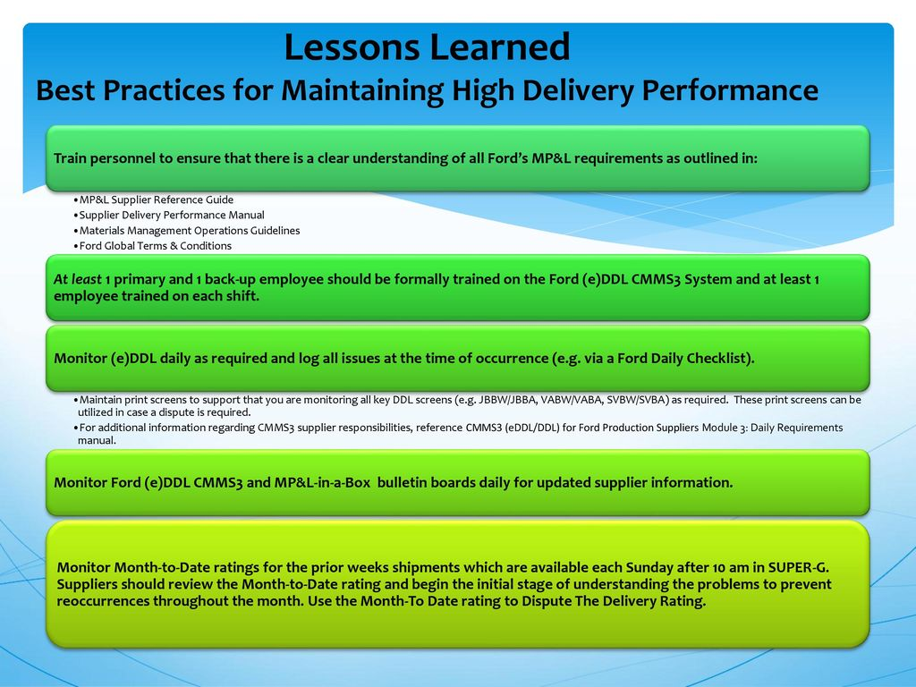 ford material planning logistic supply chain management global rh slideplayer com