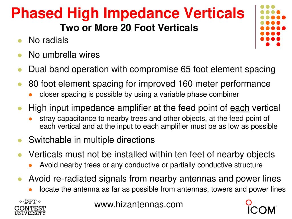 Phased High Impedance Verticals Two or More 20 Foot Verticals