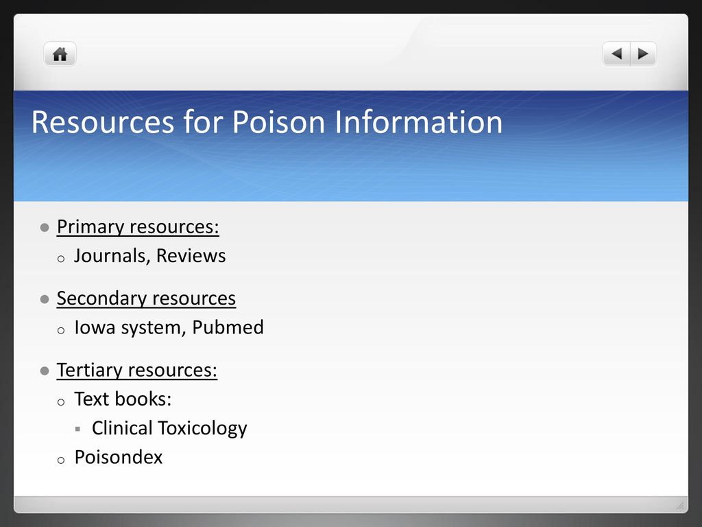 POISON INFORMATION RESOURCES PDF DOWNLOAD