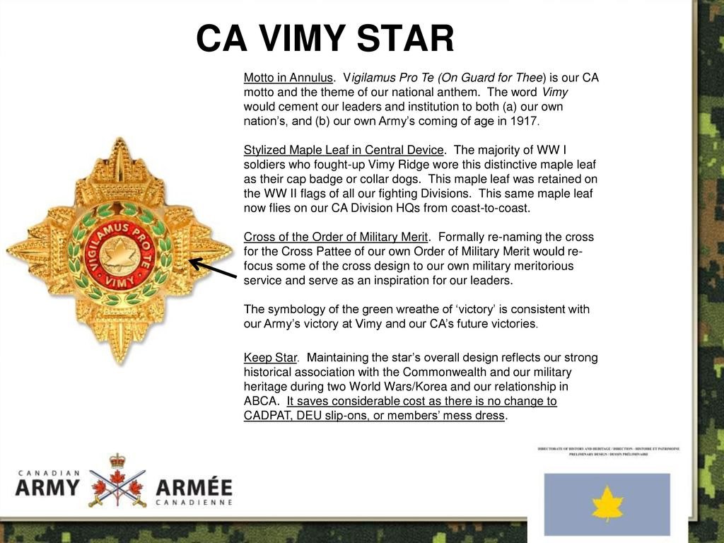 INFO BRIEF VIMY STAR 31 MAR ppt download